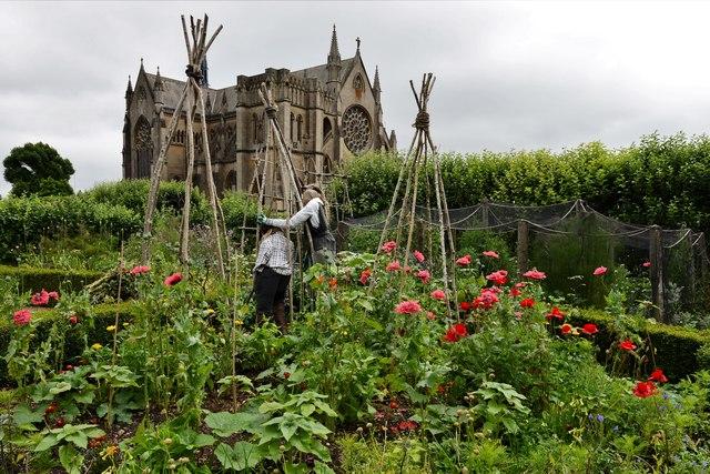 Arundel Castle kitchen garden.