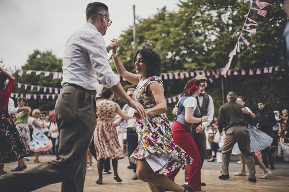 dancing at Goodwood revival