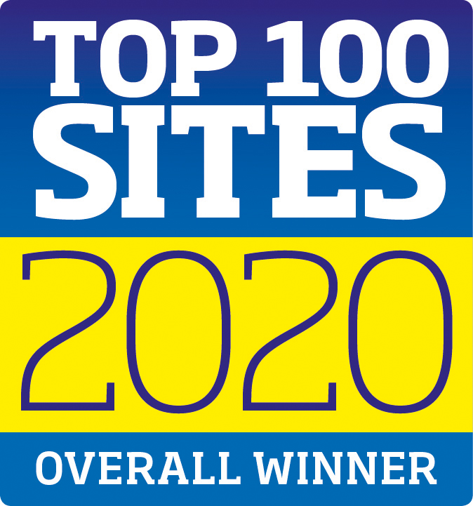 Top 100 Sites Guide Overall Winner 2020