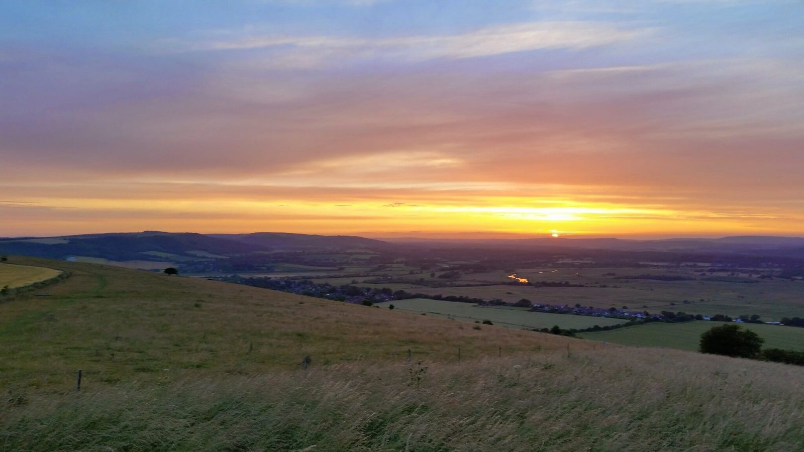 South Downs open spaces in west sussex